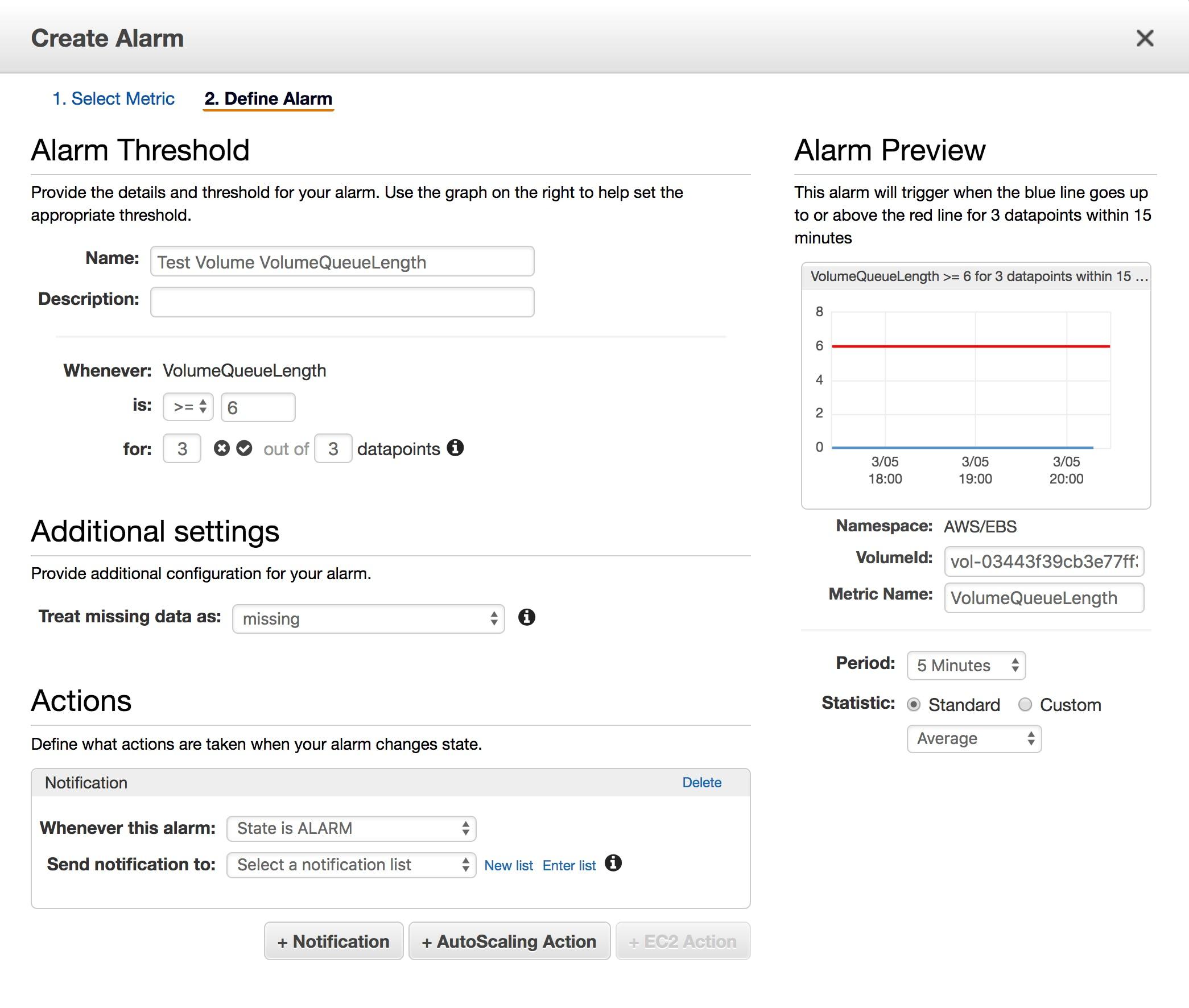Collecting Amazon EBS metrics   Datadog