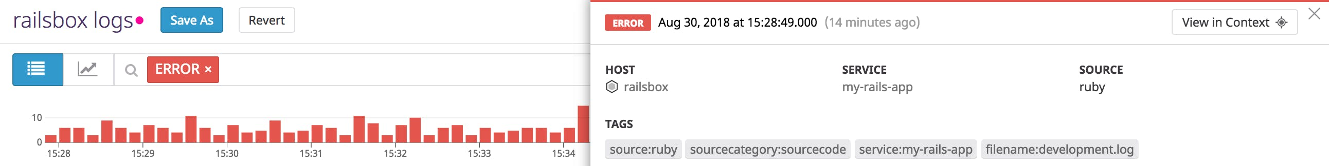 Collecting and monitoring Rails logs with Datadog | Datadog