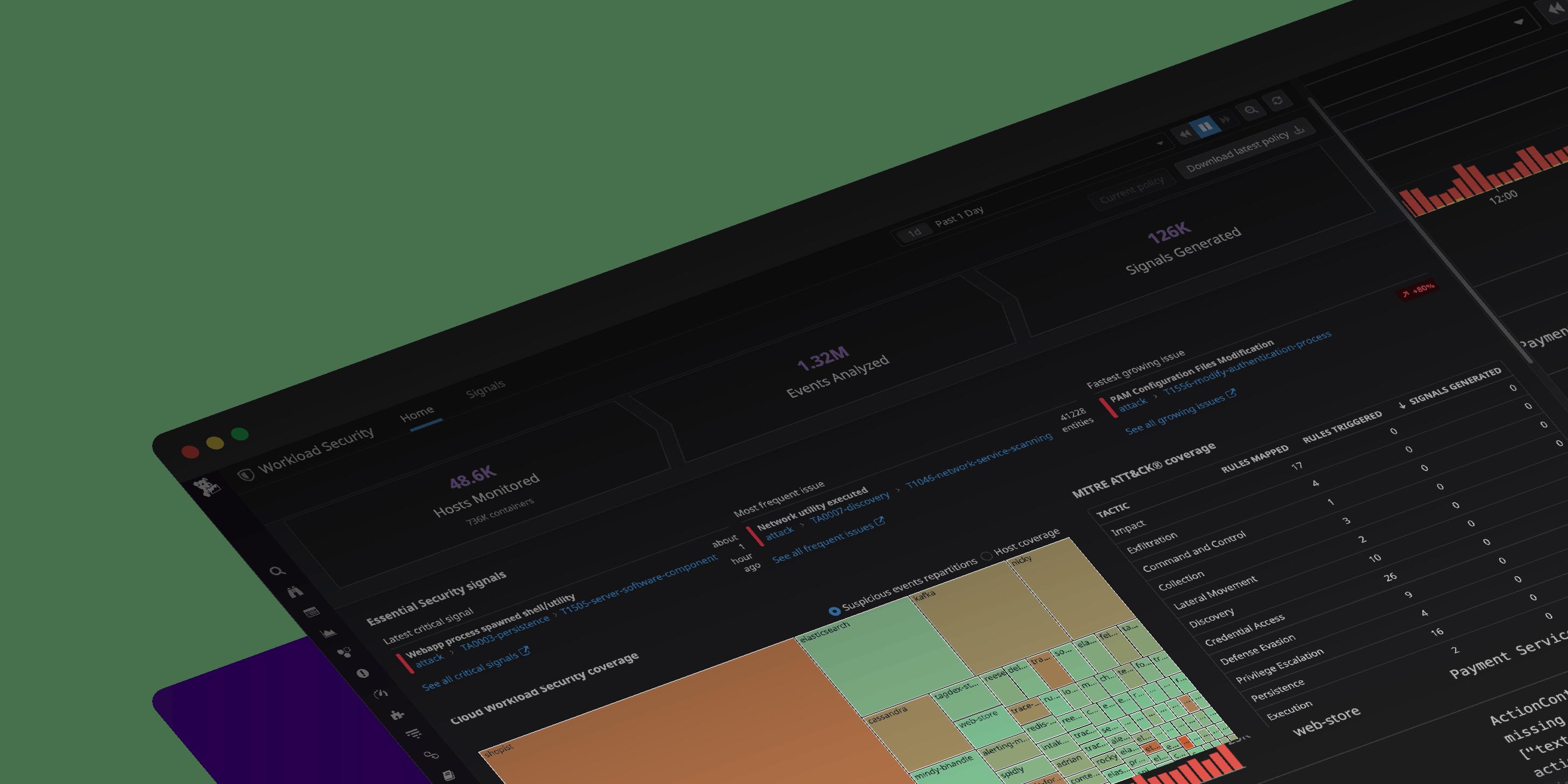 Datadog クラウド ワークロード セキュリティ