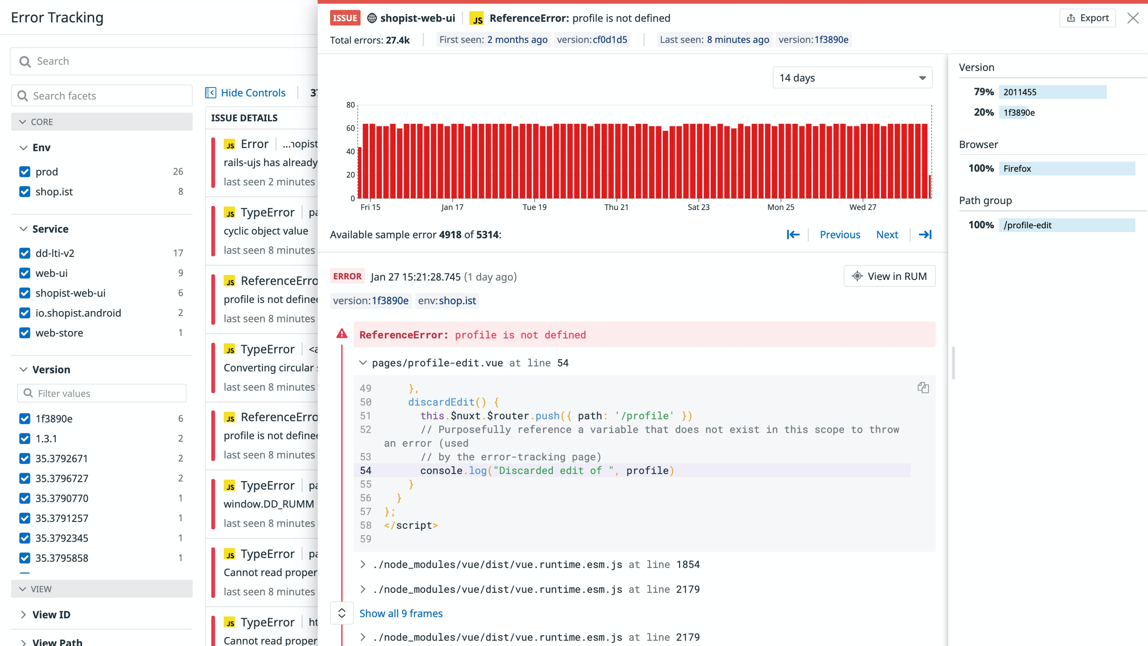 Troubleshoot and resolve errors quickly with Datadog error tracking