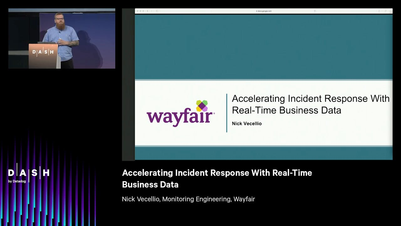 Accelerating incident response with real-time business data